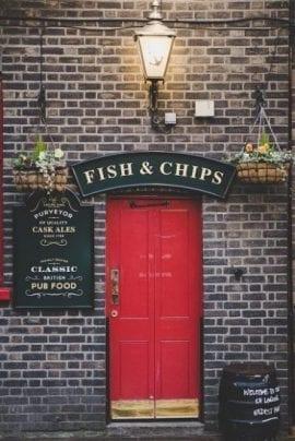 Piatti tipici Inghilterra fish and chips
