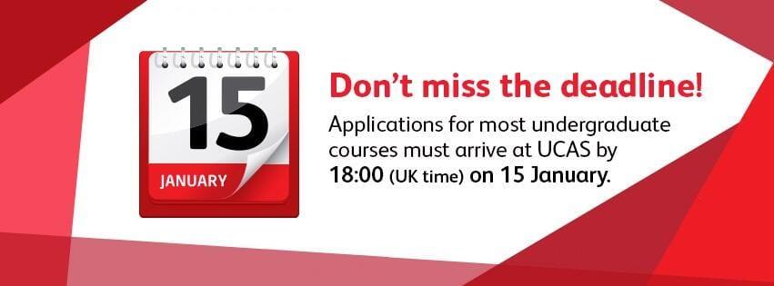 ucas deadline per le università del regno unito