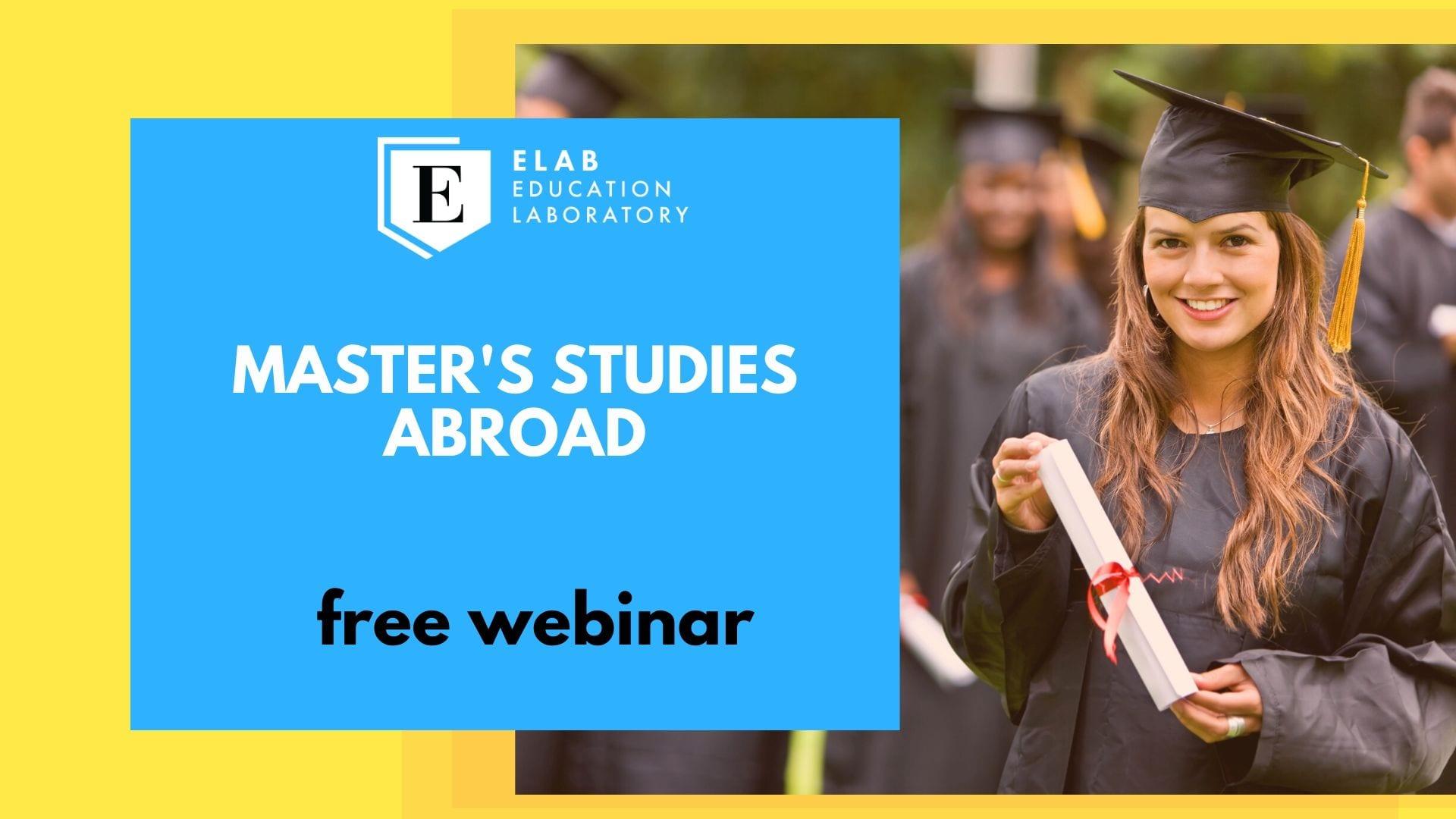 Webinar: Master's studies abroad