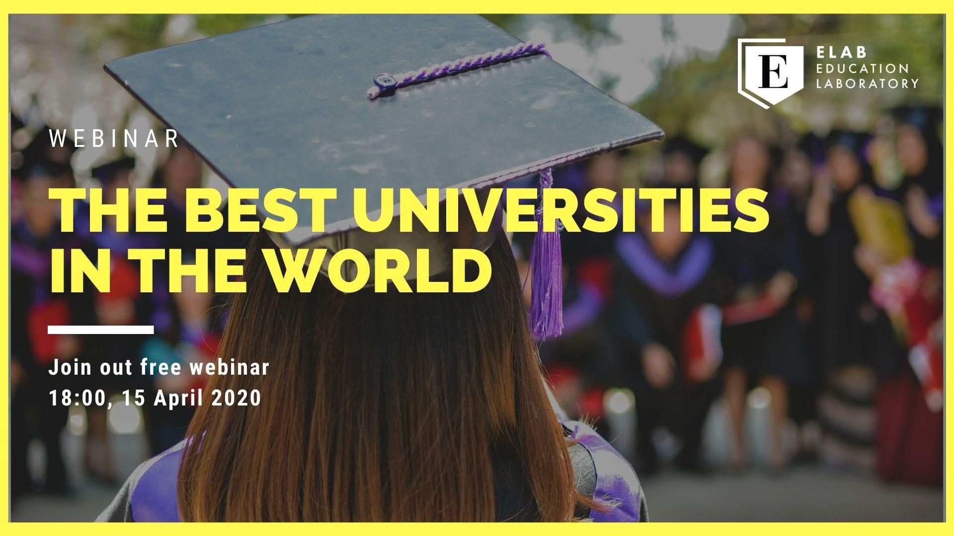 Webinar: The best universities in the world