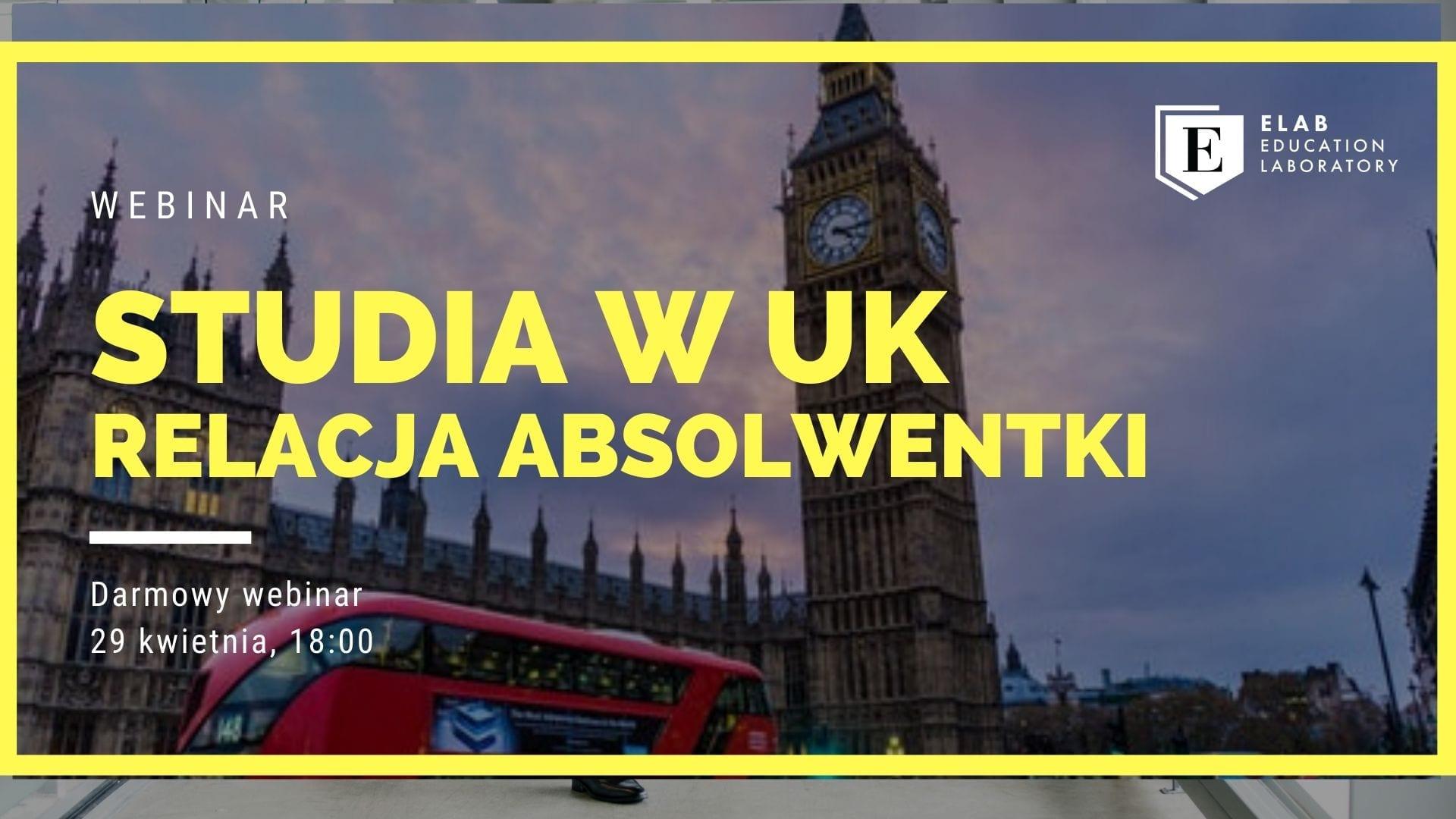 Webinar Studia w UK