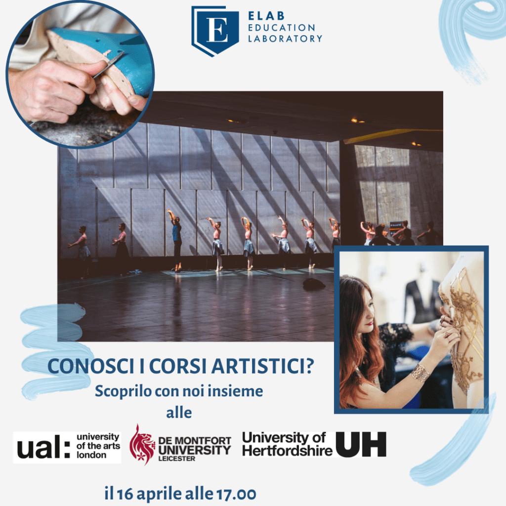Scopri gli Artistic Courses. Danza, artigianato, 16 aprile, UAL, De Montfort University, University of Hertfordshire
