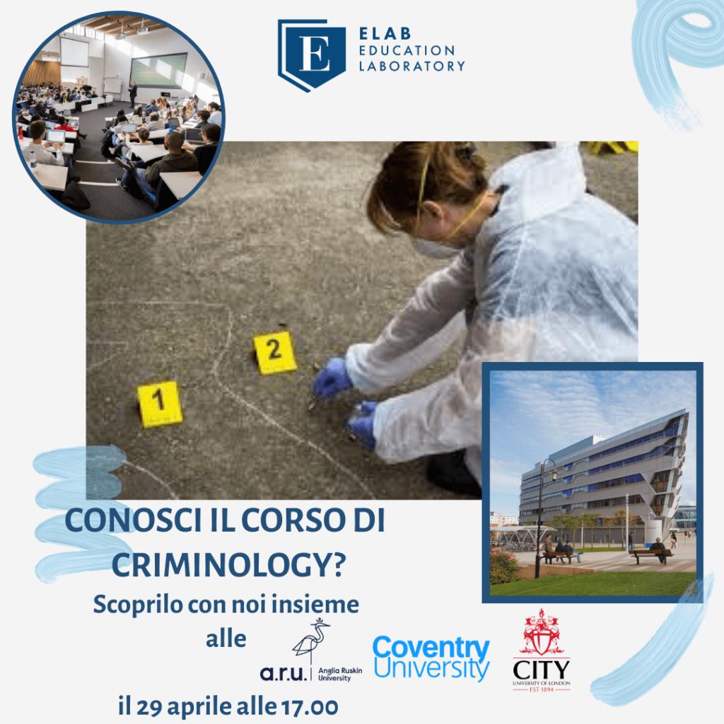 Scopri Criminologia Anglia Ruskin University, Coventry University, City University London