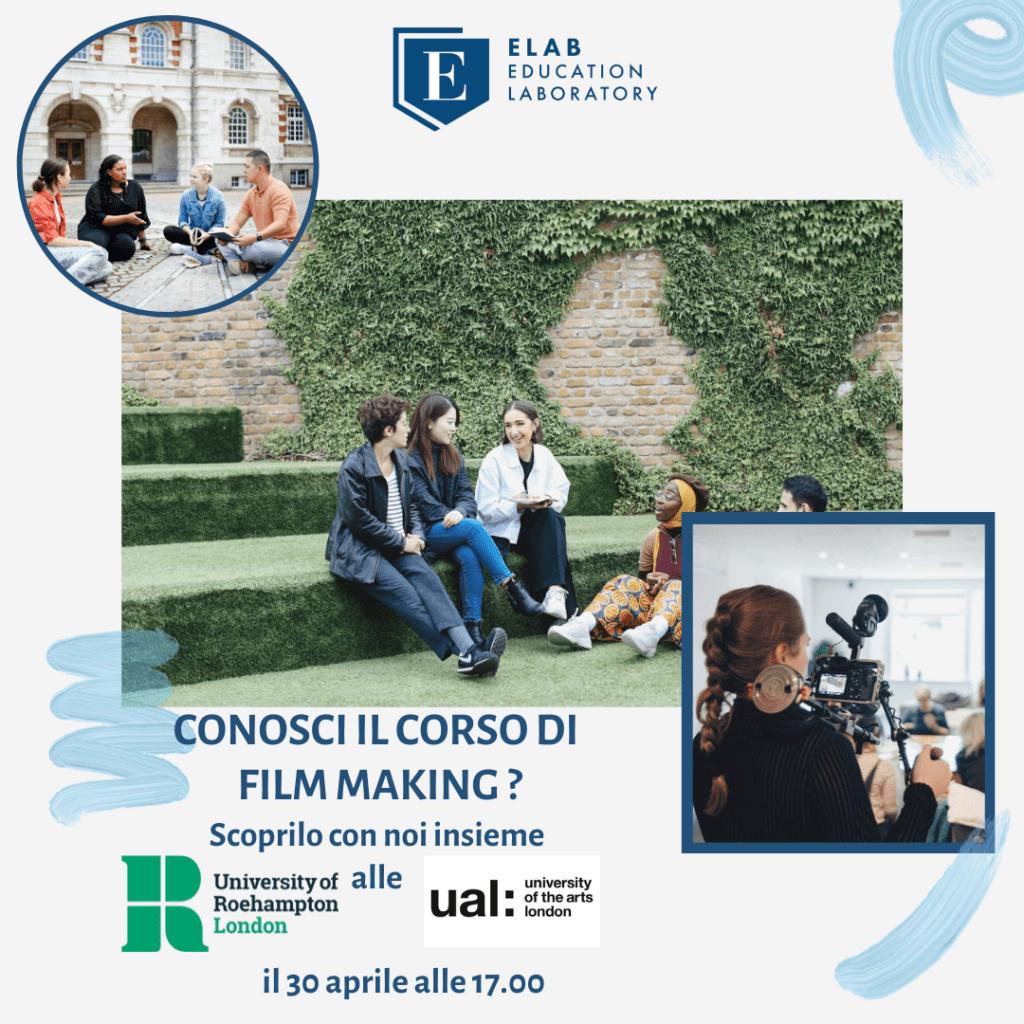Scopri Film Making Roehampton University, University of the Arts London