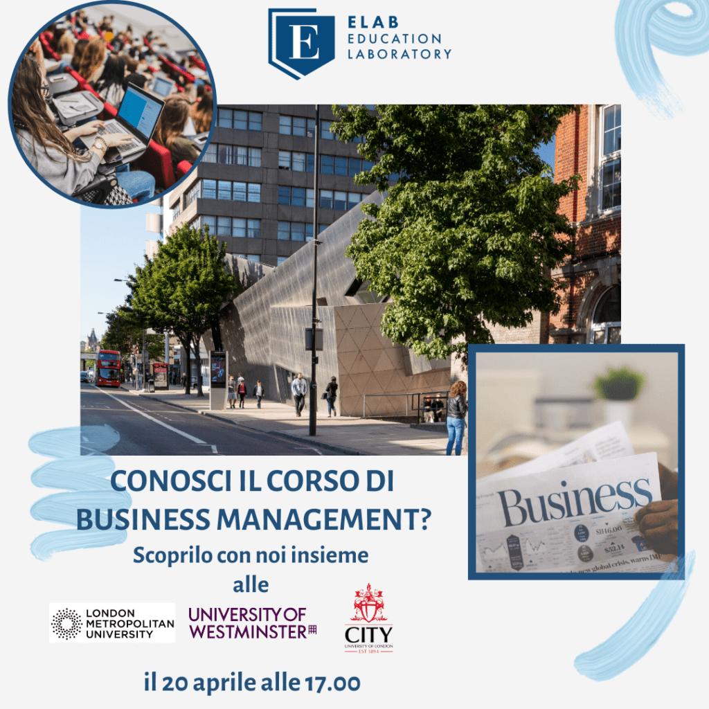 Scopri Business e Management. London Metropolitan University, University of Westminster, City University of London