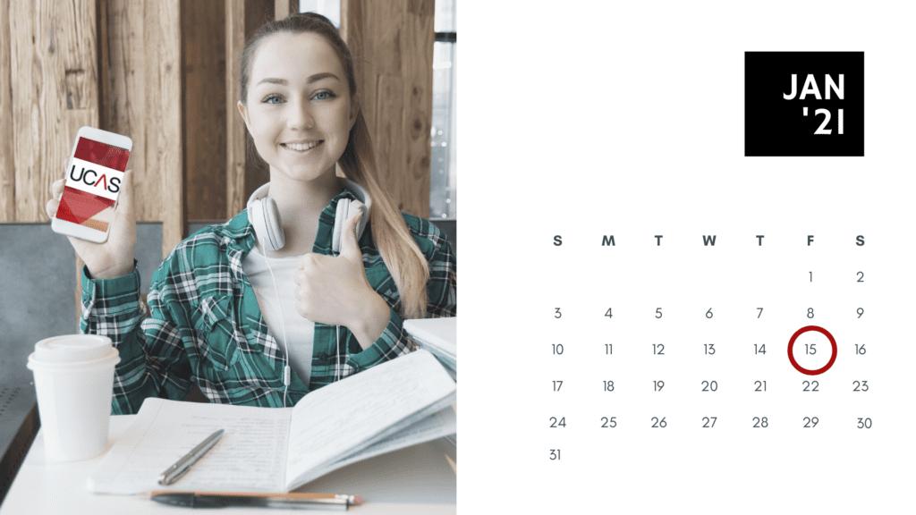 ucas deadline 15 gennaio