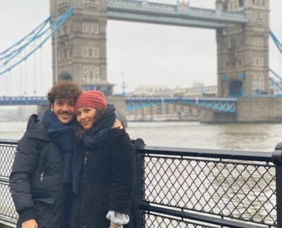 Ludovica e il fidanzato London Bridge