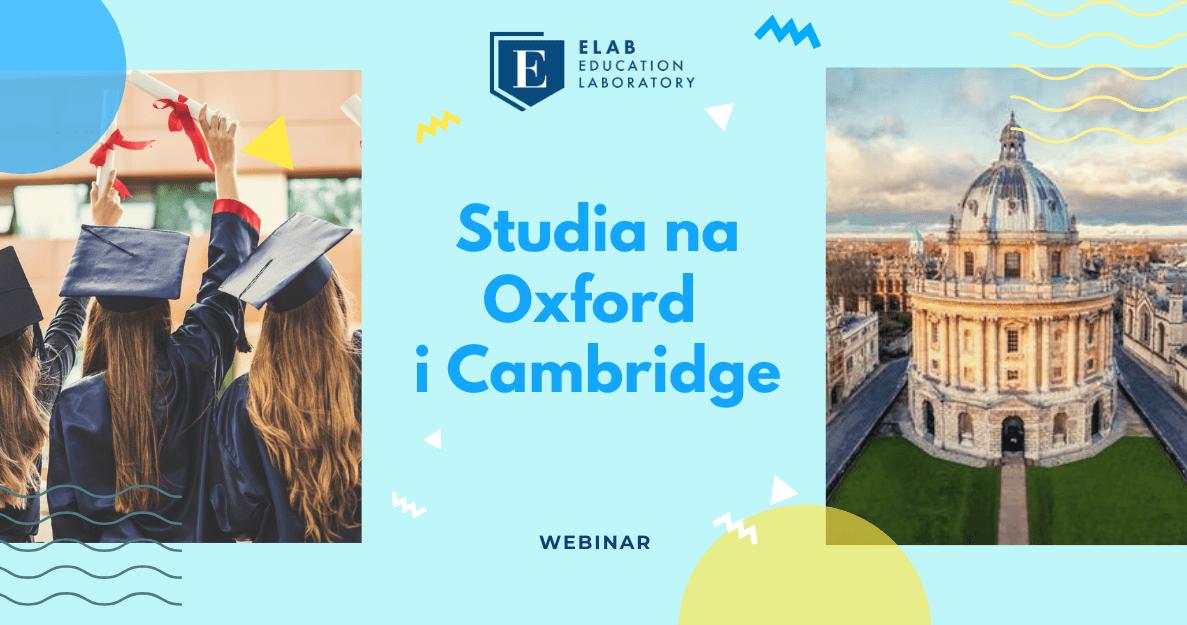 Webinar Studia na Oxford i Cambridge Elab