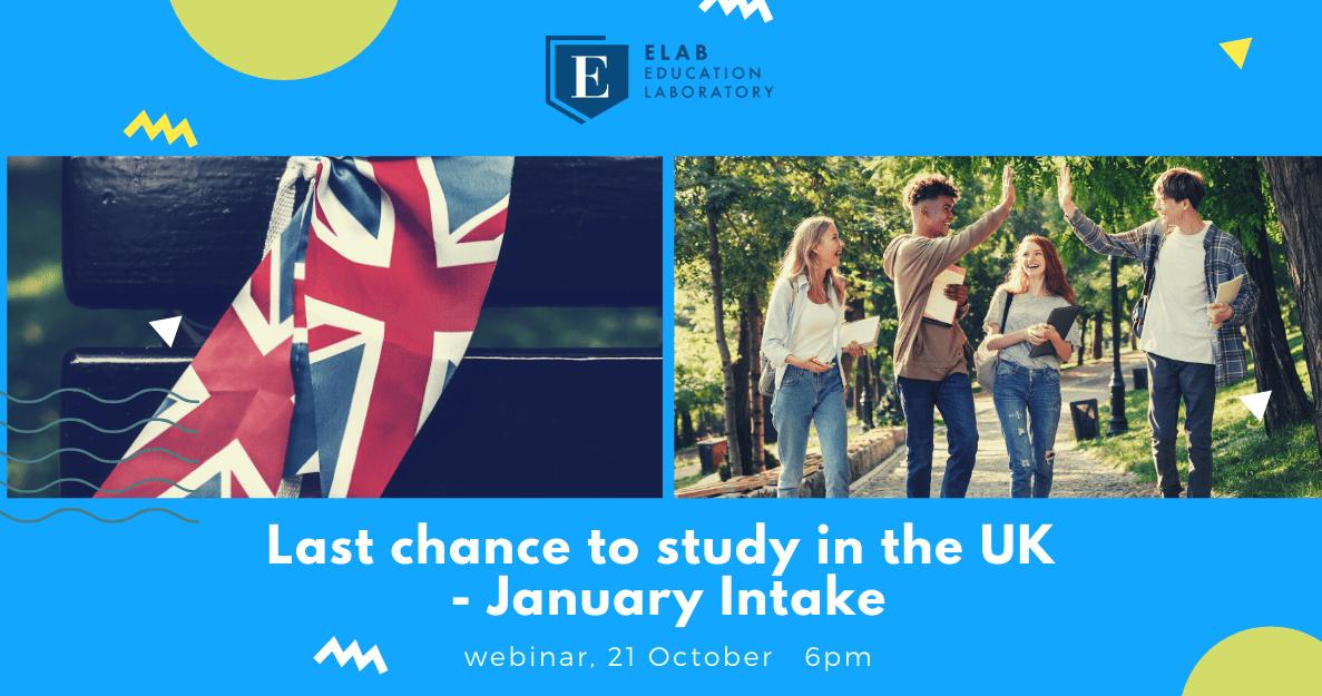 Webinar January Intake, study in the UK