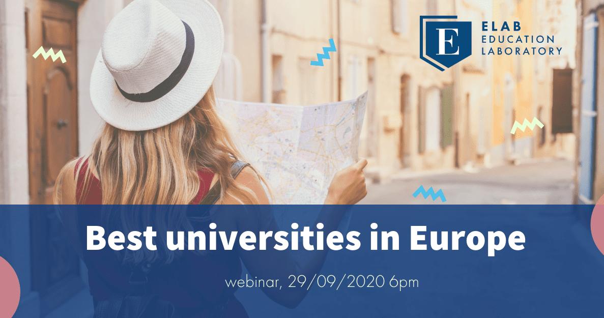 best universities in Europe webinar