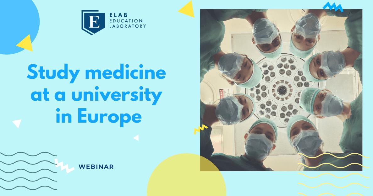 study medicine in Europe webinar