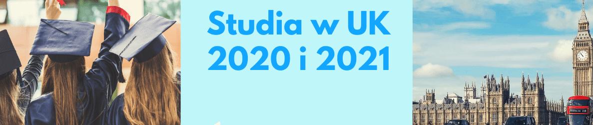 studia w UK 2020 i 2021