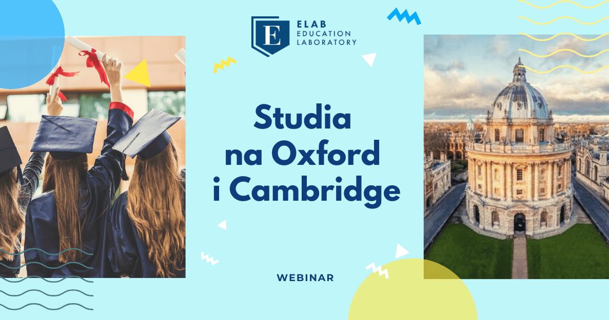 Studia na Oxford i Cambridge