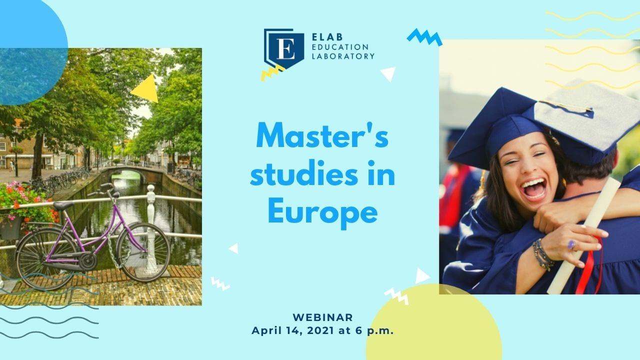master studies in europe webinar