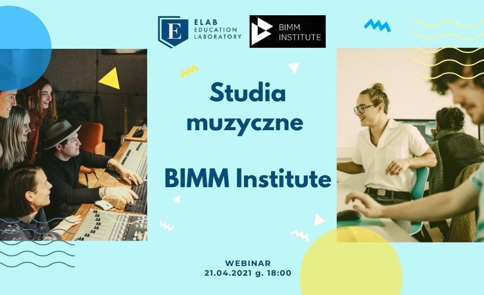Studia muzyczne – webinar z BIMM Institute