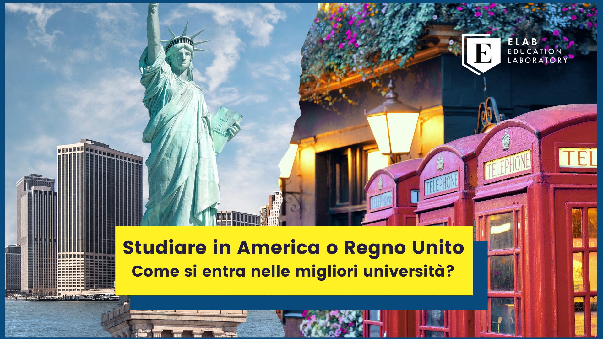 studiare in america o uk