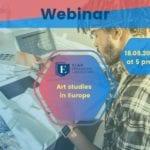 webinar art studies in europe