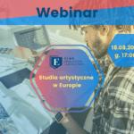 webinar studia artystyczne w Europie